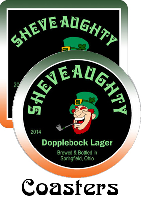 Sheve Aughty Bock Saint Patrick Day Coasters