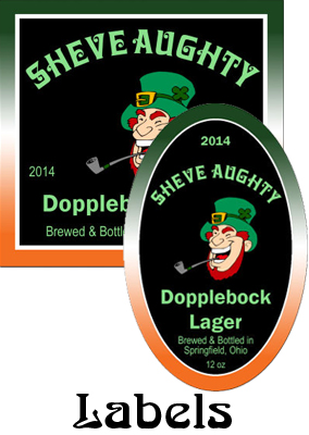 Sheve Aughty Bock Saint Patrick's Day Day labels