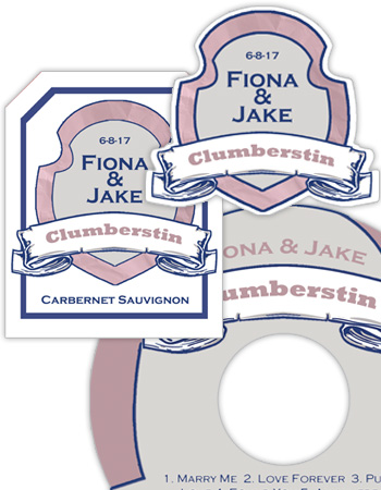 Shield Wedding Labels