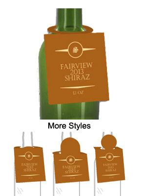 Shiraz Wine Bottle Tags