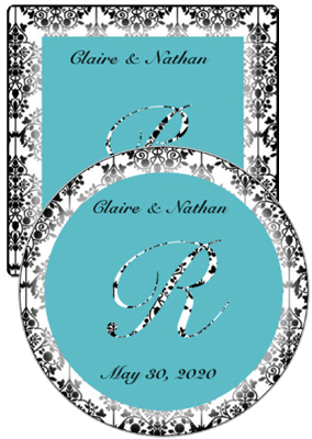 Silhouette Wedding Coasters