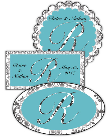 Silhouette Wedding Labels