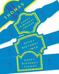 Simple Age Birthday Cigar Band Label