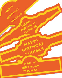 Simple Border Custom Birthday Cigar Band Labels