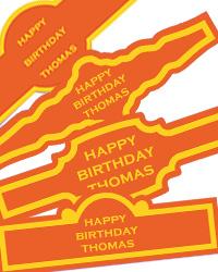 Simple Border Custom Birthday Cigar Band Labels