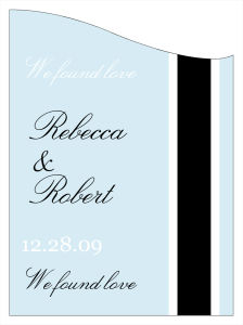 Simple Portrait Wine Wedding Labels