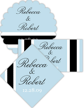 Simple Portrait Wedding Labels