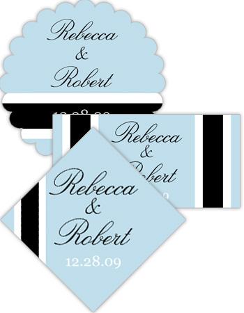 Simple Portrait Wedding Labels