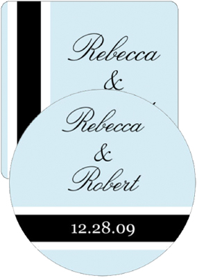 Simple Portrait Wedding Coasters