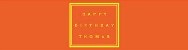 Water Simple Border Birthday Labels