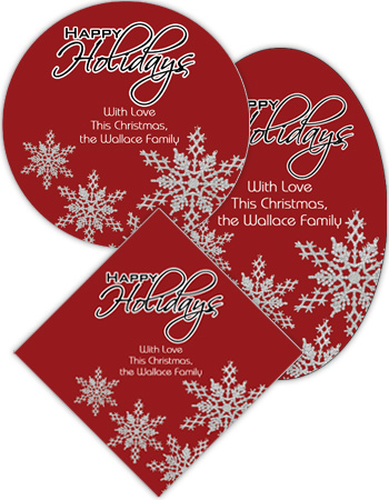 Snowflakes Christmas Labels