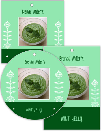 Sprout Canning Favor Tags