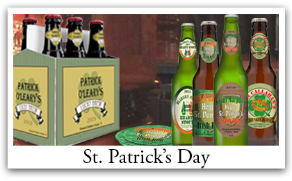 Custom Saint Patrick  Day Beer Labels, Coaster and Six Pack Carrier