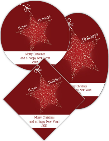 Star with String Christmas Labels