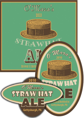 Straw Beer Labels