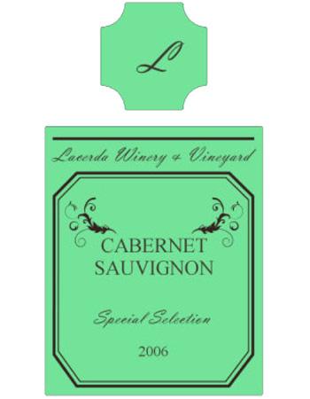 Striped Wine Label