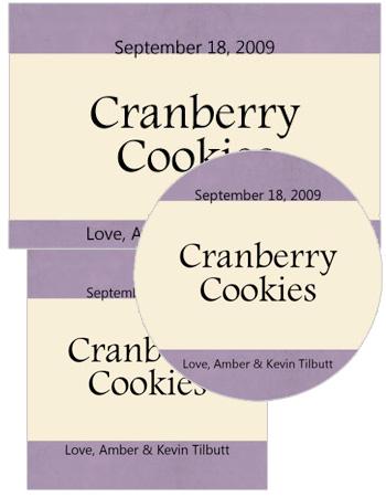 Sugar Sweet Food and Craft Label