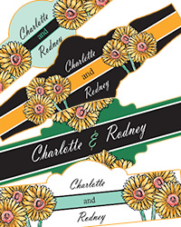 Summer Floral Trio Wedding Cigar Bands