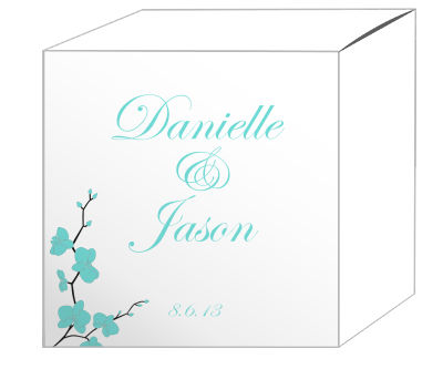 Summer Orchid Favor Boxes