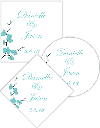 Summer Orchid Wedding Labels