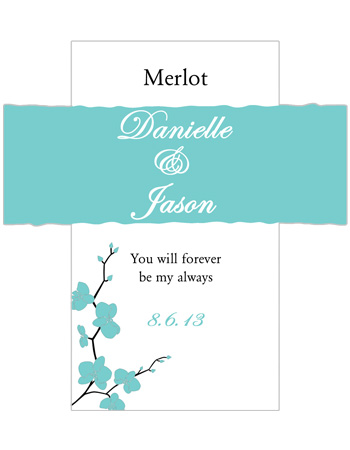 Summer Orchid Wine Wedding Labels