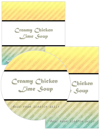 Sun Rays Food and Craft Labels