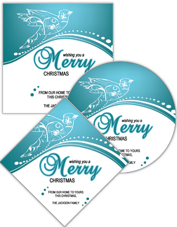 Swirl Dove Christmas Labels