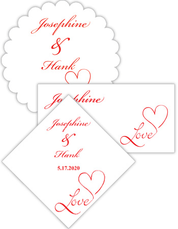 Love Swirly Wedding Labels