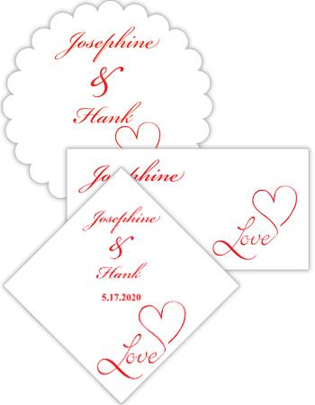 Love Swirly Wedding Labels