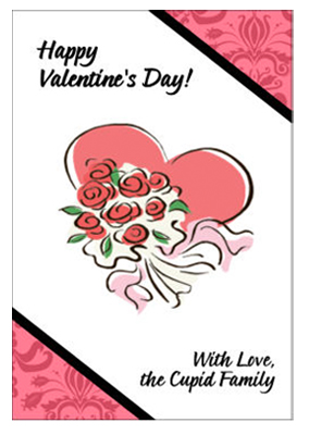 Two Hearts Valentine Labels