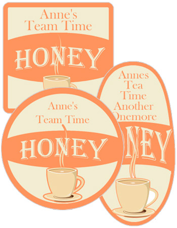 Tea time food and craft label