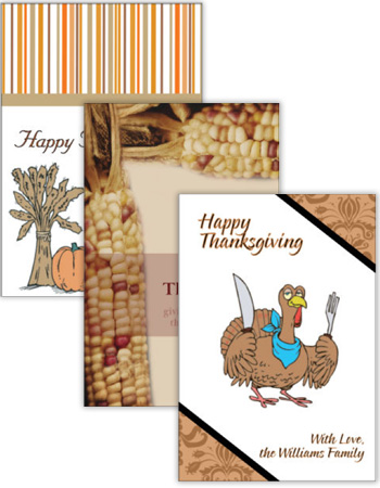 Thanksgiving Vertical Rectangle Labels