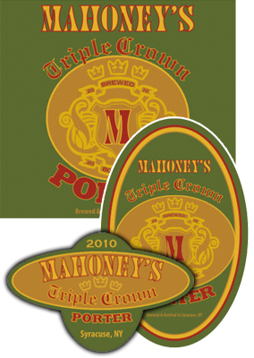 Three Crown Beer Labels