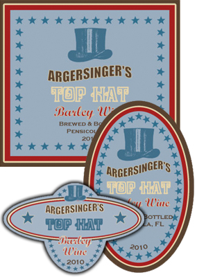 Top Hat Beer Labels