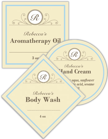 Tranquil Bath and Body Labels