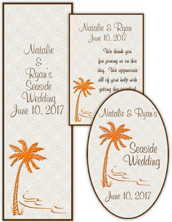 Tropic getaway Wedding Labels