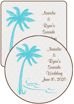 Tropic getaway Wedding Coasters
