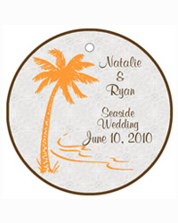 Tropic getaway Wedding Favor Tags
