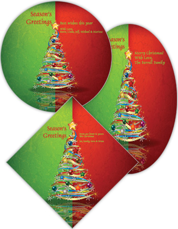Two Tones Christmas Tree Labels