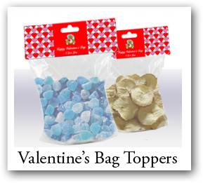 Valentine favor bags, Valentine bag topeprs, customizable gift bags