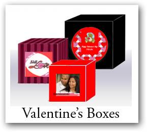 Custom Valentine Day favors boxes, Valentine gift boxes, favor boxes