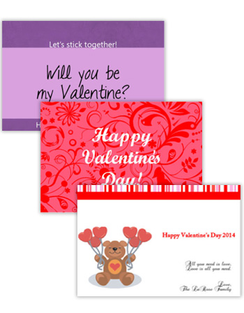 Valentine Horizontal Rectangle Labels