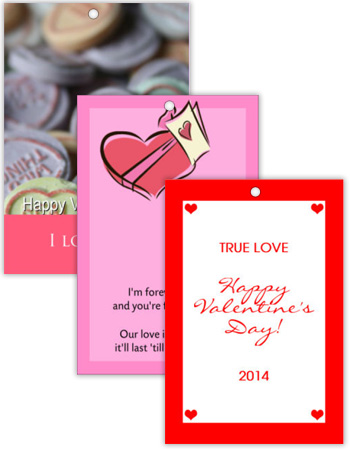 Vertical Rectangle Valentine Hang Tag