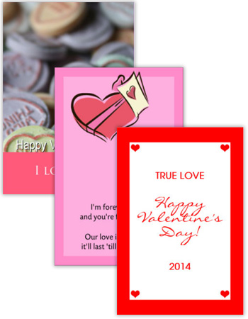 Valentine Vertical Rectangle Labels