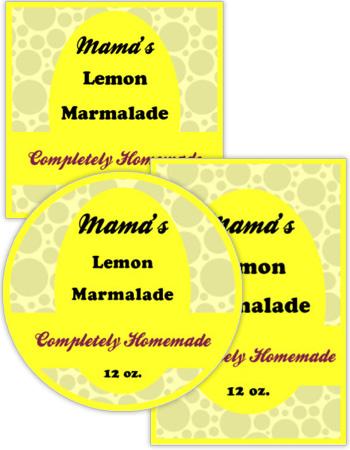 Vanilla Canning Label