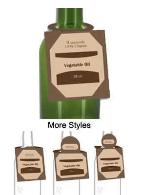Vegetable Oil Bottle Tags