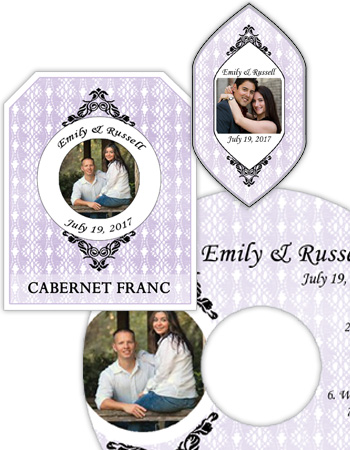 Venice Wedding Labels