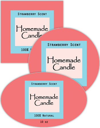 Vogue Candle Labels