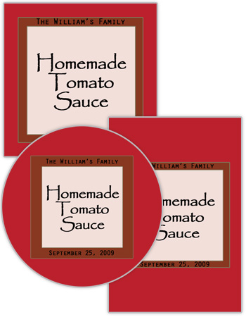 Vogue  Food and Craft Labels