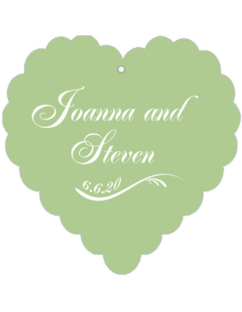 Wave Wedding Favor Tags